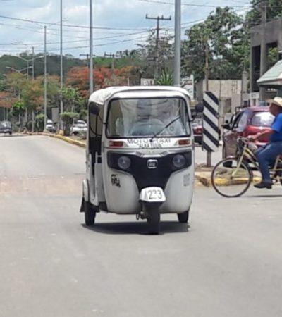 Mototaxistas de José María Morelos buscan empleos temporales por baja ocupación durante vacaciones de verano