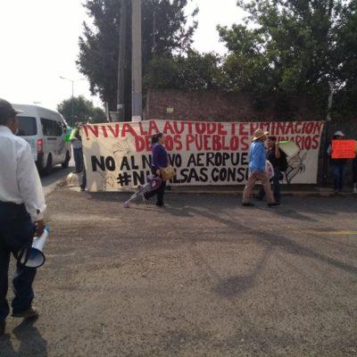 RECHAZAN RESOLUTIVO: Buscarán pueblos originarios defensa internacional contra aeropuerto en Santa Lucía
