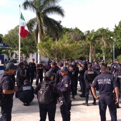 ESTALLA PARO DE POLICÍAS EN CHETUMAL: Alrededor de 200 elementos reclaman el incumplimiento del pago de compensaciones y estímulos laborales