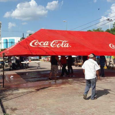 Después de 54 días, retiran plantón trabajadores del Ayuntamiento de José María Morelos