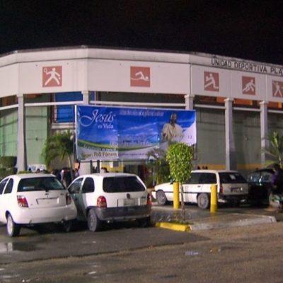 Anuncian rehabilitación del Poliforum de Playa del Carmen para finales de año