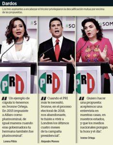 Cruzan priistas acusaciones de corrupción y traición en debate por dirigencia nacional del tricolor