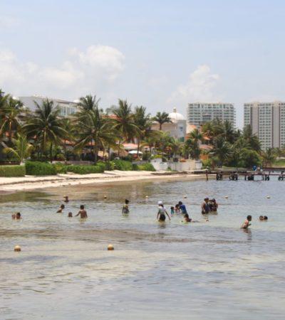 Piden bañistas atender playas pequeñas de Cancún