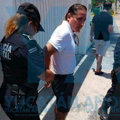 Detienen en Mérida a funcionario de Quintana Roo acusado de golpear a su esposa