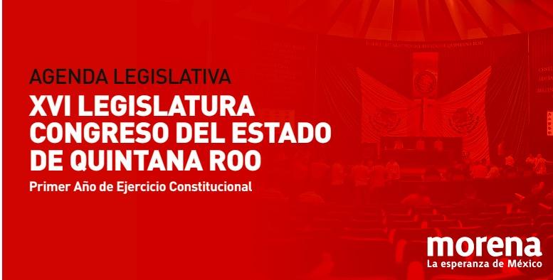 PRESENTA CEN DE MORENA AGENDA LEGISLATIVA PARA CONGRESO DE QR: Austeridad Republicana, Leyes de Alcoholes y Movilidad, así como Aguakan, entre sus prioridades