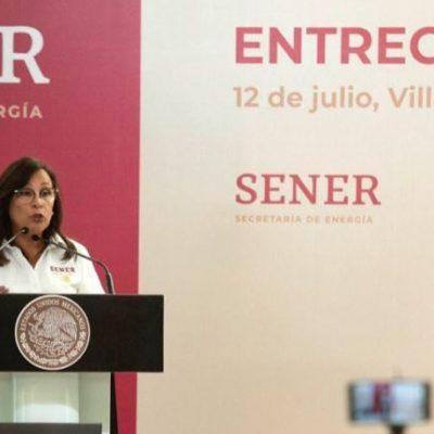 Anuncia Sener entrega de cinco paquetes de licitaciones para refinería en Dos Bocas a más tardar el 26 de julio