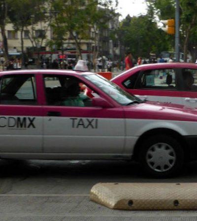 Fingen taxistas de la CDMX choque y altercado para secuestrar a tres niños que viajaban en uno de ellos