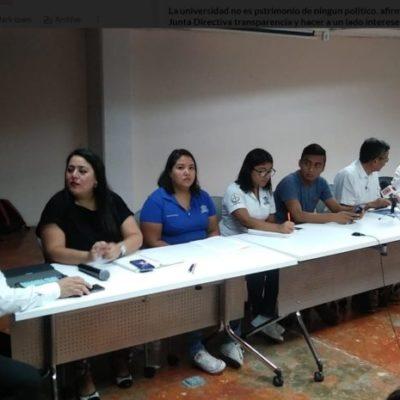 Académicos, alumnos y administrativos de la Uqroo se pronuncian en contra del proceso de selección del Rector