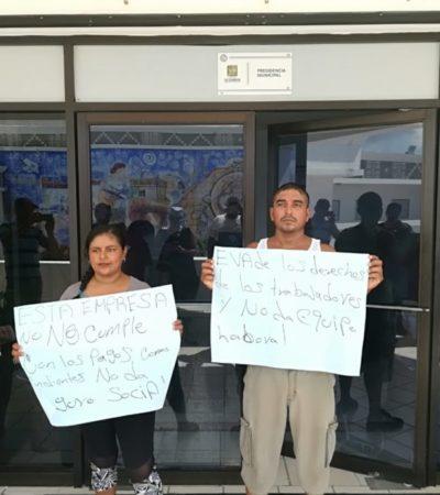 Protestan sargaceros por abusos laborales por parte de Grupo Ar.Co en Playa del Carmen