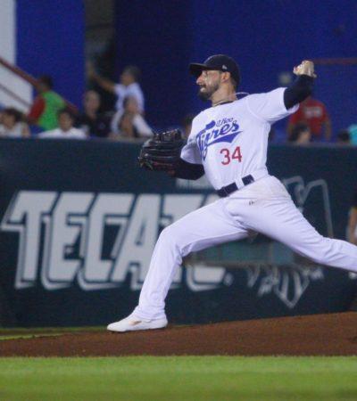 TIGRES GANA A LO VALENZUELA, CON BLANQUEADA: Jorge Luis Castillo lanzó gran pelota; mientras la ofensiva lo respaldó, terminando de forma exitosa un día de fiesta, donde los felinos vencieron 6-0 a los Rieleros de Aguascaliente