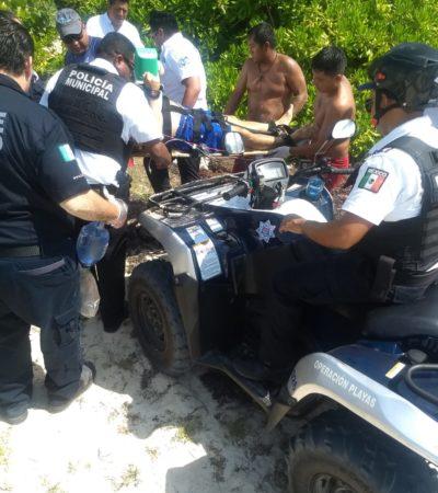 Declaran muerto en el hospital a un turista de EU que se ahogó en playa de Cancún