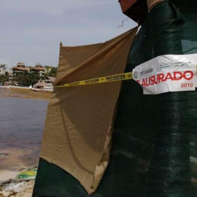 Clausura Medio Ambiente obras del hotel Panama Jack por contaminación en El Recodo en Playa del Carmen