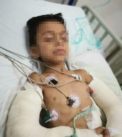 SEGUIMIENTO   Permanece hospitalizado el menor golpeado por su padre en Cancún
