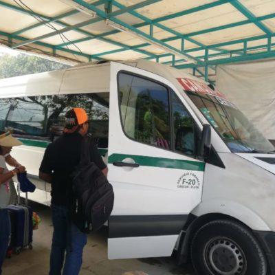 Vans foráneas de Playa del Carmen reportan afectación económica por disminución de turistas que viajan a Tulum y Cancún