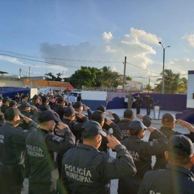PIDE CAPELLA A POLICÍAS REDOBLAR ESFUERZOS: Inauguran nueva base de Seguridad Pública en la Región 102 de Cancún