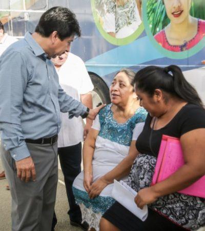 """Atiende la """"Caravana de Salud"""" a 360 personas con diferentes padecimientos en Tulum"""