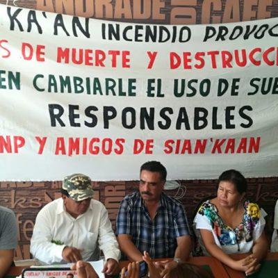 Acusan activistas y políticos de Playa del Carmen que incendio en Sian Ka'an fue provocado para hacer cambio de uso de suelo