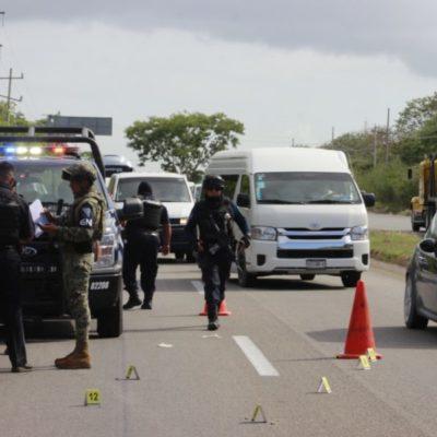 Balean a dos personas frente al hotel Único en la carretera federal Playa-Tulum; uno fallece en el lugar y otro es trasladado al hospital