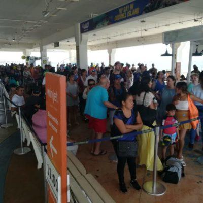 Incrementa un 6% la afluencia de pasajeros en la Terminal Marítima de Playa del Carmen
