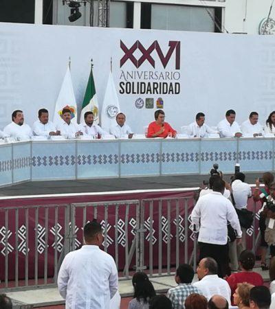 """""""SOLOS NO PODEMOS"""": Al celebrar el 26 aniversario de Solidaridad, Laura Beristain reconoce déficit en los servicios públicos, pero llama a trabajar en equipo"""