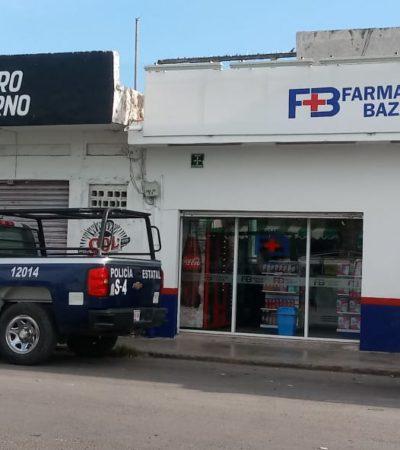 Asaltan farmacia en Chetumal para llevarse 2 mil pesos