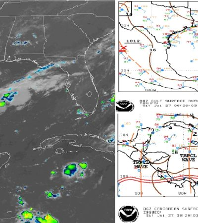 PRONÓSTICO DEL CLIMA: Prevén lluvias aisladas para Quintana Roo después de mediodía