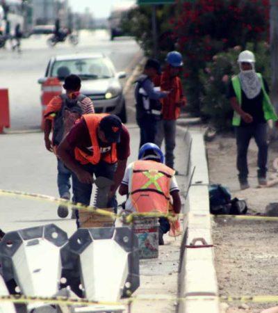 Atraso en la obra de 'El Crucero' provoca pérdidas económicas para comerciantes y 'oficieros' de la zona