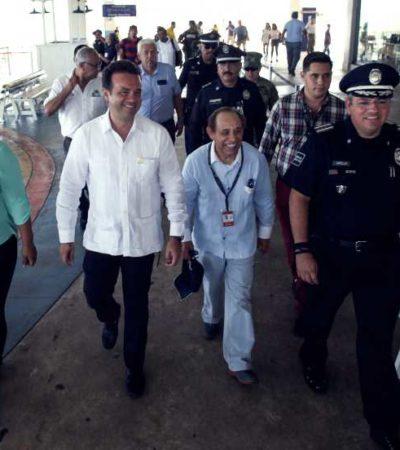 REFUERZAN SEGURIDAD EN TERMINAL MARÍTIMA DE NAVEGA: Fortalece Pedro Joaquín la seguridad y promoción turística de Cozumel