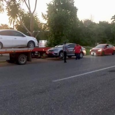 Recuperan en Tabasco 11 vehículos robados en Cancún