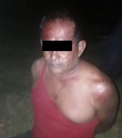 Detienen a tres ladrones de motores en Bacalar