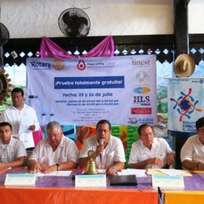 Rotary International realizará la campaña de salud contra la Hepatitis C en Cancún