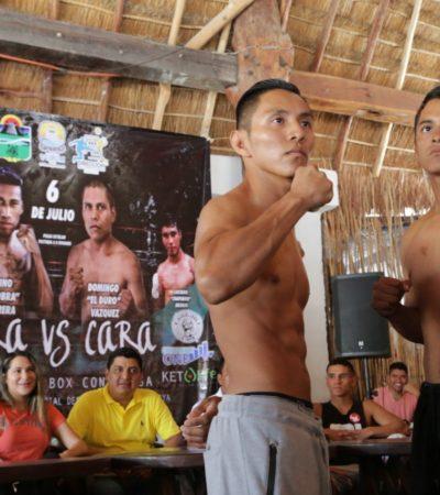 """Todo listo en Tulum para velada boxística """"Cara vs Cara"""" en pro de los deportistas"""