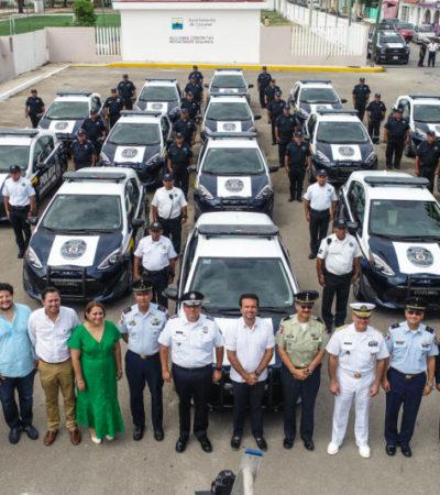 Entrega Pedro Joaquín 14 patrullas nuevas para reforzar la seguridad de Cozumel