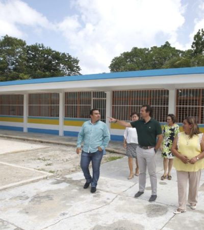 Reforzarán seguridad e instalaciones de la secundaria 28 de Noviembre en Cozumel