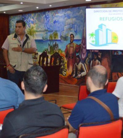 Piden a hoteleros de Isla Mujeres realizar el trámite para otorgar refugios alternos a turistas en caso de huracán