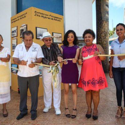 """Inauguran la muestra fotográfica """"Isla Mujeres de Antaño"""" como parte de las actividades del 169 aniversario de fundación de la isla"""