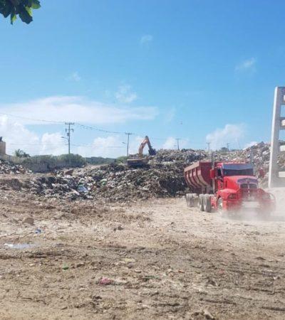 Avanzan autoridades en el saneamiento de la unidad de transferencia de Isla Mujeres