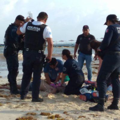 Aparece una persona sin vida flotando cerca de la costa en Playa del Carmen