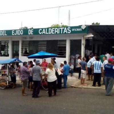 Advierten ejidatarios de Calderitas que no regalarán más tierra al gobierno municipal
