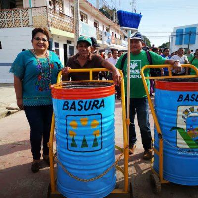 ¿RECOGER BASURA CON CAMIONES…? LO DE HOY ES A PURO TRICICLO: Presume Alcaldesa de JMM estrategia para mantener limpia la ciudad