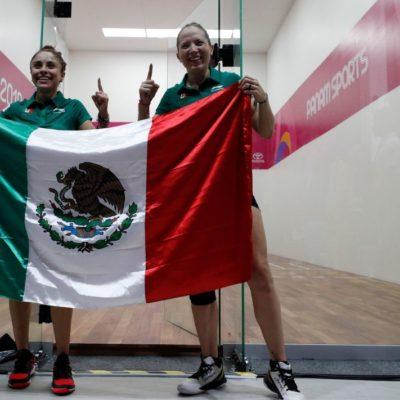 ALCANZA MÉXICO EL ORO 25: Paola Longoria y Samantha Salasconsiguen la presea dorada en la final de dobles femenil de raquetbol