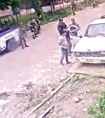 Acusan a elementos de la Guardia Nacional de robar e intimidar a un activista en Chiapas
