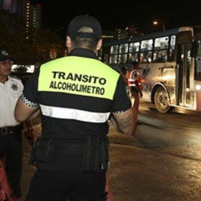Remiten a 71 conductores al 'torito' por conducir alcoholizados en Cancún