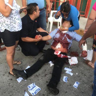 Apuñalan a un hombre en Villas del Sol de Playa del Carmen; la ambulancia nunca llegó