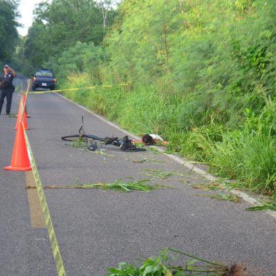 Fallece ciclista en El Naranjal arrollado por un vehículo