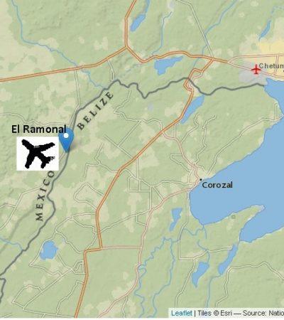 Encuentran avioneta semicalcinada en frontera con Belice