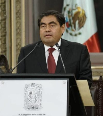 INICIA LA 4T EN PUEBLA: Rinde protesta Miguel Barbosa, primer gobernador izquierdista de la entidad