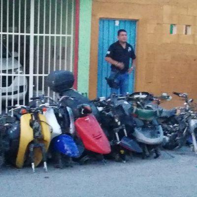 Desmantelan taller de motos robadas en Cozumel, pero no hay detenidos