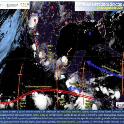 PRONÓSTICO DEL CLIMA: Hoy ingresa la onda tropical 26 a Quintana Roo
