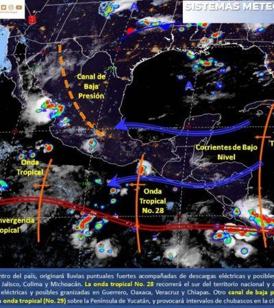 PRONÓSTICO DEL CLIMA: Onda tropical 29 ingresará por la tarde a Quintana Roo